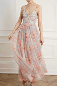 Andromeda Ruby Bloom Cami Gown