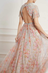 Andromeda Ruby Bloom Gown