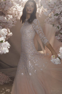 Bella Sequin Long Sleeved Ballerina Bridal Dress