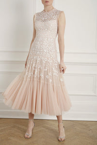 Bella Sequin Sleeveless Ballerina Bridal Dress
