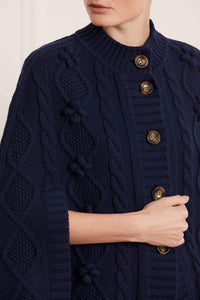 Bonnie Cable Cape - Navy