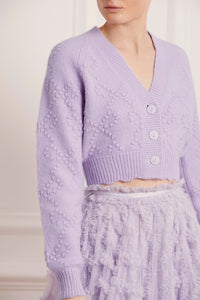 Bow Stitch Cropped Cardigan