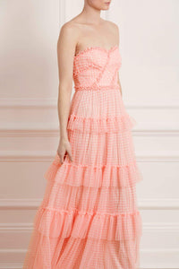 Caroline Gingham Tulle Corset Gown