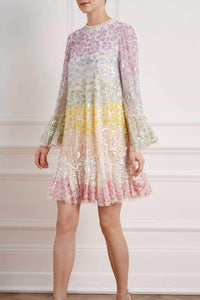 Chakra Sequin Long Sleeve Mini Dress