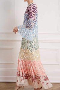 Chakra Sequin Long Sleeve Gown