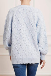Diamond Stitch Longline Cardigan