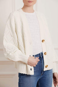 Diamond Stitch Midline Cardigan