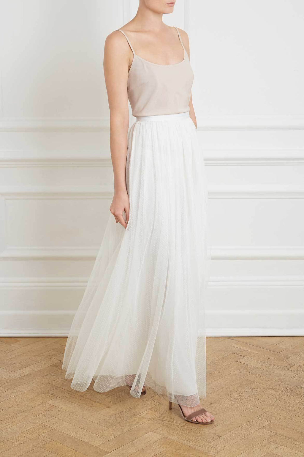 reasonable price detailed pictures shop for best Dotted Tulle Maxi Skirt