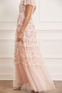 Elsie Ribbon Gown - Pink