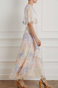 Eliza Sequin Ankle Length Gown