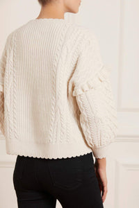 Elsie Cable Short Jumper - Cream