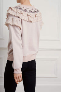 Embellished Wren Ruffle Sweat