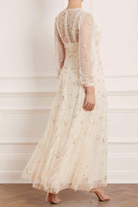 Frieda Ditsy Long Sleeve Gown