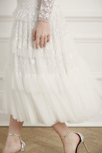 Gracie Long Sleeved Ballerina Bridal Dress