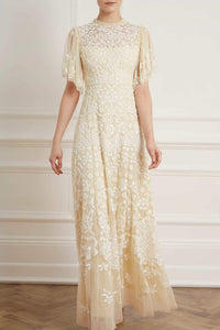 1930s Wedding History Honesty Flower Gown $619.00 AT vintagedancer.com