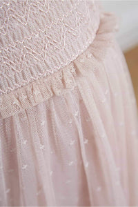 Honeycombe Smocked Ballerina Skirt - Pink