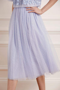 Kisses Tulle Midaxi Skirt - Blue