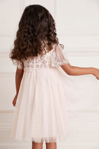 Lilybelle Sequin Kids Dress - Pink