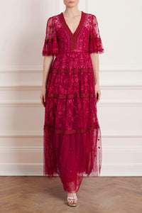 Lottie Lace Gown - Red