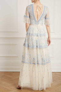 Midsummer Lace Gown - Blue