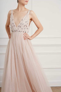 Neve Embellished Bodice Maxi Dress - Pink