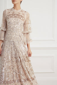 Patchwork Sequin Gown