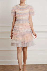 Petra Ruffle Short Sleeve Mini Dress