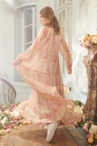 Ruby Bloom Long Sleeve Gown