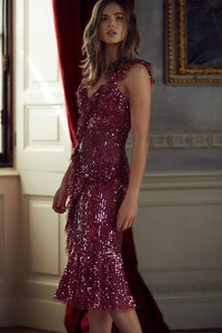 Scarlett Sequin Midi Dress