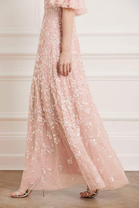 Sequin Ribbon Gown