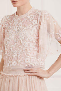 Sequin Ribbon Top - Pink