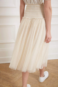 Smocked Midaxi Skirt