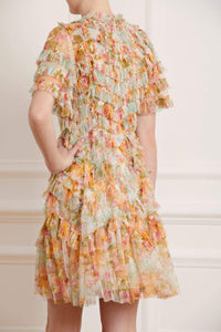 Sunset Garden Mini Dress - Ivory