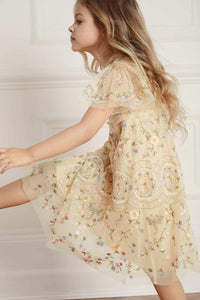 Sweet Petal Short Sleeve Kids Dress