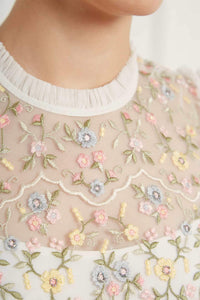 Sweet Petal Short Sleeve Dress