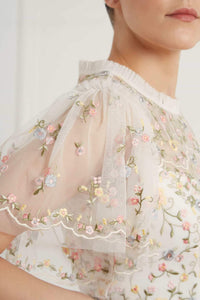 Sweet Petal Short Sleeve Gown