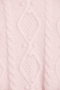 Sylvie Cable Longline Jumper - Pink