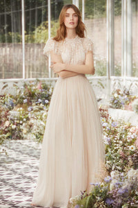 Whitethorn Bodice Maxi Dress - Pink