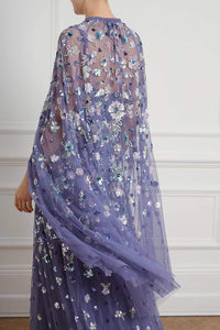 Wildflower Sequin Midaxi Cape