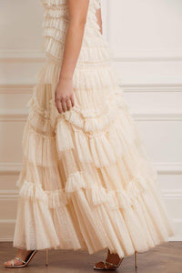 Wild Rose Ruffle Gown - Ivory