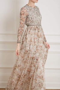 Andromeda Garland Long Sleeve Gown