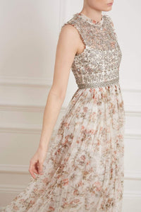 Andromeda Garland Sleeveless Gown