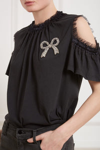 Embellished Bow Tee