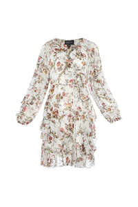 Garland Petal Wrap Dress