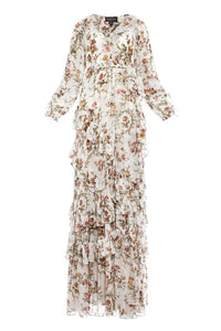 Garland Petal Wrap Gown