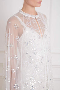 Gloss Maxi Bridal Cape