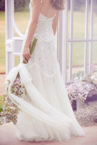 Tiered Gloss Cami Bridal Gown