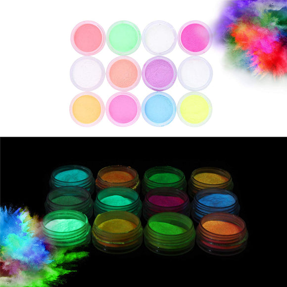 Glow in the Dark Powder - 48 PACK Bulk Party Supplies Favors and Decorations Works Great in addition with Sticks, Necklaces, Glasses, Luminous Pigment Powder Fluorescent UV Neon Dye Dust Glo for Slime
