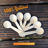 Disposable Small Wooden Mini Spoon – (Pack of 110) 3.9-inch Set Eco-Friendly Tasting Spoons Biodegradable Cutlery Compostable Dessert Utensils for Eating Party Supplies - Better Than Bamboo Palm Leaf