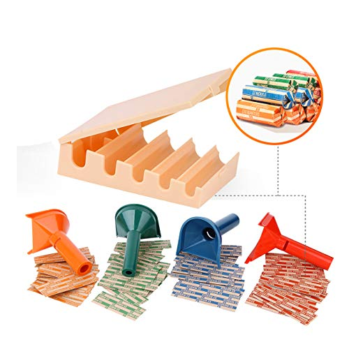 Coin Counters Tray & 4 Color-Coded Coin Sorters Tubes Bundled with 100-Count Assorted Coin Wrappers